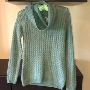 turquoise turtleneck sweater